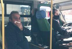 """Maskesiz yolcuya polisten ayar... """"Virüs bunu unutmaz"""""""