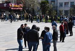 Sokağa çıkma yasağı öncesi vatandaşlar oraya akın etti