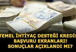 Temel ihtiyaç desteği kredi başvuru ekranı, sonuçlar ne zaman açıklanır 10 bin TL HalkBank, VakıfBank, Ziraat Bankası destek kredi sorgulaması