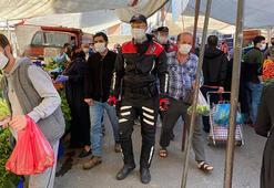 Corona virüs dinlemediler Sokağa çıkma yasağı öncesi, pazar ve sokaklarda yoğunluk