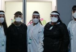 Corona virüs tanı merkezinin gönüllü savaşçıları ilk kez görüntülendi