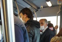 Saat 08.00 metrobüs Sosyal mesafe hak getire...