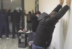Villaya şok baskın 3ü kadın 19 kişi yakalandı