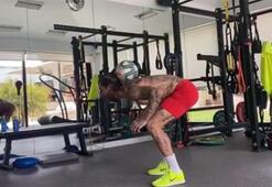 Sergio Ramos mohikan oldu, evde spor yaptığı anları paylaştı...