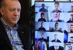 Cumhurbaşkanı Erdoğan milli futbolcularla görüştü
