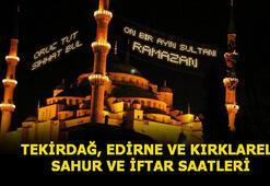 Tekirdağ, Edirne ve Kırklareli sahur saati 2020 Ramazan İmsakiyesi Tekirdağ, Edirne ve Kırklareli sahur ve iftar vakti