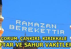 Çorum, Çankırı, Kırıkkalede ilk sahur saat kaçta 2020 Çorum, Çankırı, Kırıkkale Ramazan İmsakiyesi İftar ve sahur vakitleri