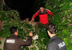 Polislerden böyle kaçtı Kıskıvrak yakalandı...