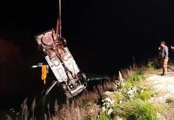 Kontrolden çıkan otomobil İsabeyli Baraj Göleti'ne uçtu: 1 kişi hayatını kaybetti