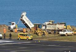 Trabzon Havalimanı pisti onarıma alındı