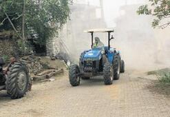 Beydağ'da mahalleler dezenfekte ediliyor
