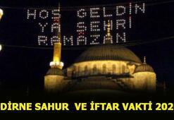 Edirne sahur vakti 2020 İftar ve sahur saat kaçta Edirne Ramazan İmsakiyesi 2020