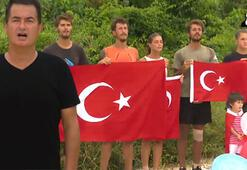 Survivorda 23 Nisan coşkusu Canlı yayında İstiklal Marşı okudular