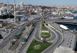 İstanbulda yasağın ardından ramazan sessizliği