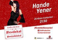 Sahne şovları ve danslarıyla Hande Yener'den konser şöleni