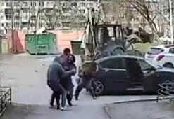 Rusyadaki kız kaçırma anları kamerada