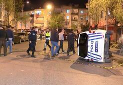 Polis ekipleri kaza yaptı: 2 yaralı
