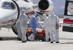 İsveçteki Türk hasta ambulans uçakla Türkiyeye getirildi