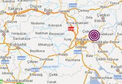 Son dakika haberleri: Ankarada korkutan deprem Depremim büyüklüğü...