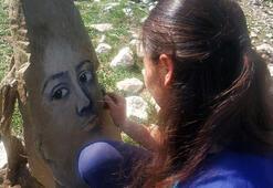 Çoban ressam Büşra, koronavirüs günlerini sanatla değerlendiriyor