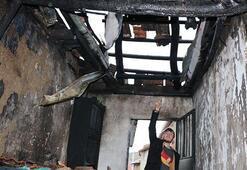 Aftonkarahisarda ev yangını