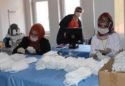 Bitlis'teki halk eğitim merkezlerinde günlük 20 bin maske üretiliyor