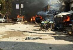 Son dakika Afrinde hain saldırının ardından alarm durumu: İkinci bomba yüklü araç...