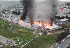 İSTOÇ geri dönüşüm tesisinde yangın çıktı