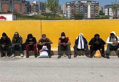 İstanbula yürürken Bursada polise yakalandılar