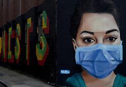 Londrada corona virüs grafitileri