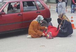Kadın sürücü, çarptığı yaralı kadının başında ağladı