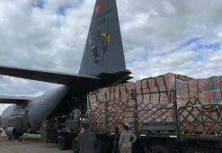 Son dakika | Türkiyenin ABDye yardımları: İkinci tıbbi yardım paketi Andrews Hava Üssüne indi