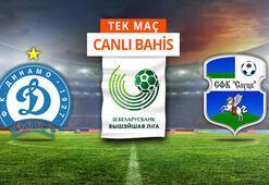 Dinamo Minsk - Slutsk maçı canlı bahisle Misli.comda