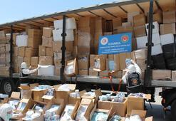 İstanbul'da çok sayıda tıbbi koruyucu malzeme ele geçirildi