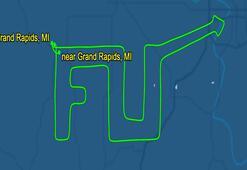 ABD'li pilottan Valiye küfürlü uçuş: Gökyüzüne yazdı