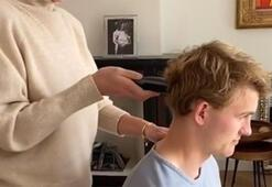 De Ligtin saçlarını da kız arkadaşı kesti...
