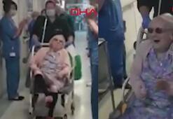 100 yaşındaki kadın 3 hastalığın ardından corona virüse de meydan okudu