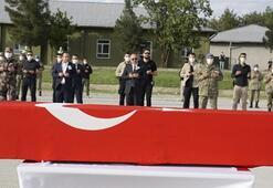 Şehit Piyade Uzman Onbaşı Gündeş için askeri tören düzenlendi