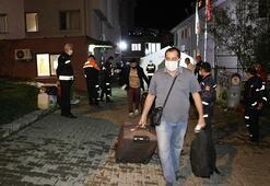 Denizlide karantina süresi dolan 168 kişi evlerine uğurlandı