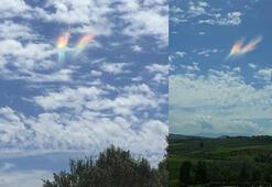 Gökyüzünde aniden beliren görüntü herkesi şaşkına çevirdi