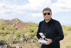 Jeoparkı tahrip edenler drone ile gözlenecek