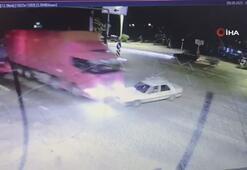 Kaza anı kameraya yansıdı