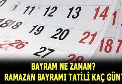 Bayram ne zaman, ayın kaçında 2020  Ramazan Bayramı tatili kaç gün, ne zaman başlıyor