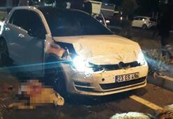 Yarışan otomobiller sürüye çarptı: 1 yaralı, 30 koyun telef oldu