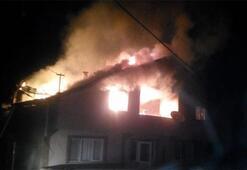 Zonguldakta korkutan yangın İtfaiye ekipleri oraya koştu