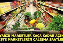 Marketler saat kaça kadar açık Hafta sonu marketler açık mı İşte Bim, A101 ve Şok Market çalışma saatleri...