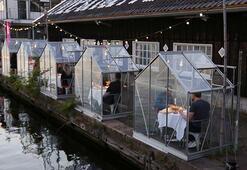 Amsterdamda kabin restoran açıldı