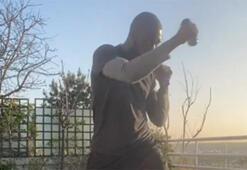 Moussa Sowdan boks antrenmanı...