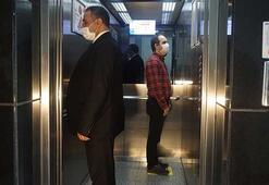 Asansörlerde corona virüse karşı sosyal mesafe düzeni