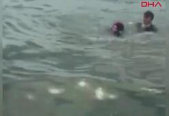 Bakırköyde hareketli dakikalar Polis genç kadının ardından denize atladı